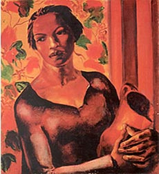 """""""Woman Holding a Jug"""" Oil on canvas (1932)"""
